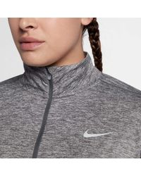 Nike - Gray Plus Size Dry Element 1⁄2 Zip Running Shirt - Lyst