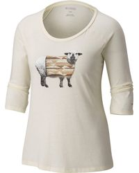 Columbia Multicolor Sheepy Sherpa 3/4 Sleeve Shirt
