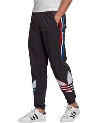 Adidas Black Tricolor Track Pants for men