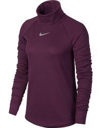 Nike - Purple Aeroreact Warm Golf Top - Lyst