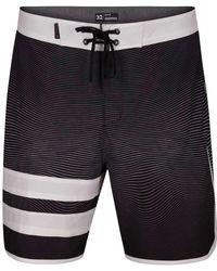 Hurley Black Phantom Static Block Party Board Shorts for men