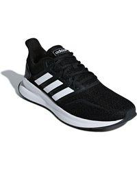 Adidas Black Run Falcon Running Shoes for men