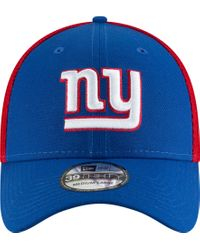 KTZ Blue New York Giants 2tone Sided 39thirty Stretch Fit Hat for men