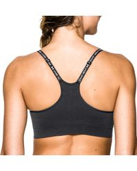 Under Armour - Black Seamless Essential Bra - Lyst