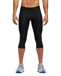 09a498aab17c5 Lyst - adidas Supernova 3 4 Length Running Tights in Black for Men