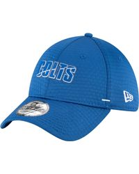 KTZ Indianapolis Colts Blue Summer Sideline 39thirty Stretch Fit Hat for men