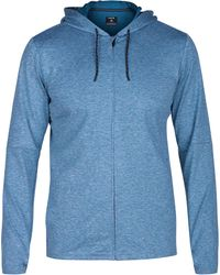 Hurley - Blue Dri-fit Expedition Full Zip Hoodie for Men - Lyst