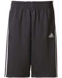 Adidas Originals - Black Slim Three Stripes Basketball Shorts for Men - Lyst