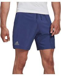 "Adidas Blue Club 7"" Tennis Shorts for men"
