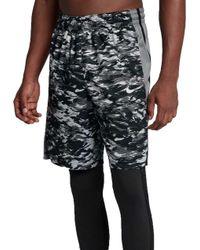 Nike - Gray Elite Stripe Plus Basketball Shorts for Men - Lyst