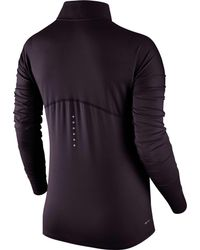 Nike - Blue Dry Element Half Zip Long Sleeve Running Shirt for Men - Lyst