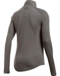 Under Armour Gray Threadborne 1⁄2 Zip Long Sleeve Shirt