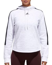 Adidas White Adge Of Sport Post Game Hoodie