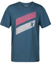 Hurley Blue Icon Slash Push Through T-shirt for men