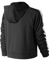 New Balance Black Anticipate Crop Pullover