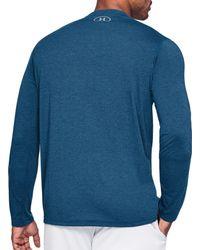Under Armour Blue Threadborne Siro Henley Long Sleeve Shirt for men