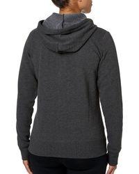Reebok - Gray Core Cotton Fleece Heather Zip Up Hoodie - Lyst