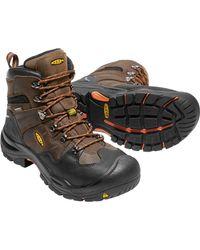 Keen Brown Coburg 6'' Waterproof Steel Toe Work Boots for men