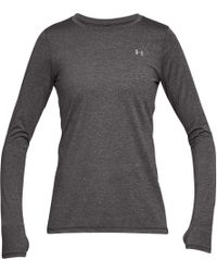 Under Armour - Gray Heatgear Armour Long Sleeve Shirt - Lyst