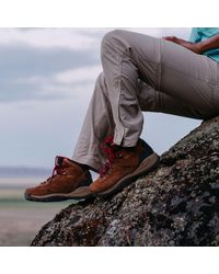 Columbia Red Newton Ridge Plus Amped Waterproof Hiking Boots