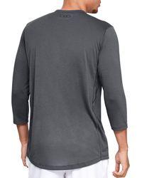 Under Armour Gray Threadborne Power Graphic 3/4 Sleeve Shirt for men