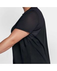 Nike - Black Plus Size Miler Running T-shirt - Lyst
