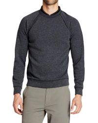 Bonobos Gray Knockdown Fleece Golf Sweatshirt for men