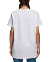 Adidas White Originals Trefoil Oversize T-shirt