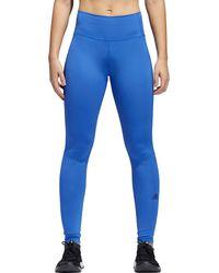 Adidas Blue Elieve This 3-stripe 7/8 Training Tights