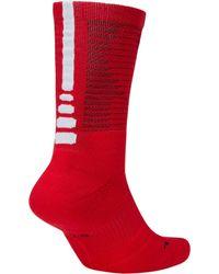 Nike Red Elite Disrupter 1.5 Crew Basketball Socks for men