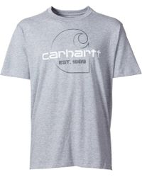 Carhartt Gray Maddock Faded C Graphic T-shirt for men