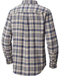 Columbia Blue Oulder Ridge Flannel Long Sleeve Shirt for men