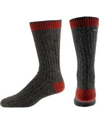 Sorel Gray Asic Crew Socks for men