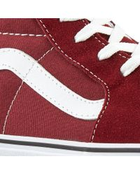 Vans - Red Sk8-hi Shoes for Men - Lyst