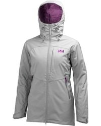 Helly Hansen - Gray Paramount Insulated Soft Shell Jacket - Lyst