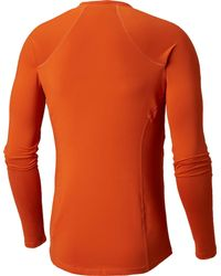 Columbia Orange Midweight Stretch Base Layer Long Sleeve Shirt for men