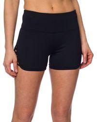 Betsey Johnson - Black Performance Criss Cross Strap Cutout Shorts - Lyst