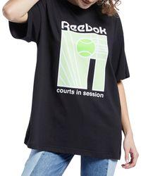 Reebok Black Classics Teamsports Boyfriend T-shirt