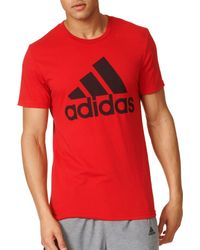 Adidas Red Adge Of Sport Classic T-shirt for men