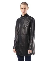 Diesel Black Gold   Black Multiple Zippers Biker Jacket for Men   Lyst