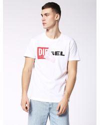 DIESEL - White T-diego-qa 218_1 Tshirt for Men - Lyst