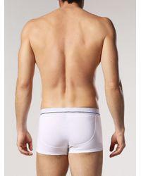 DIESEL - White Trunks With Jacquard Logo In Lamé Yarn for Men - Lyst