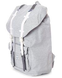 Herschel Supply Co. - Gray Men's Little America Backpack Light Grey Crosshatch/white/blueprint Stripe for Men - Lyst