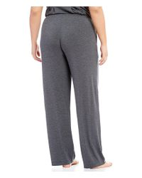 Donna Karan - Black Plus Jersey Knit Sleep Pants - Lyst