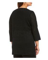 Ming Wang - Black Plus Size Stud Trim Jacket - Lyst