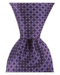 Murano - Purple Big & Tall Mini Circles Traditional Silk Tie for Men - Lyst