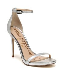 Sam Edelman - Nadya Metallic Leather Dress Sandals - Lyst