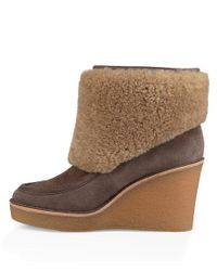Ugg Black Coldin High Wedge Booties