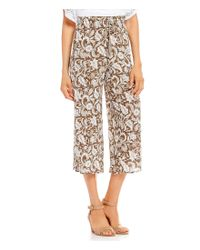 Ruby Rd - Multicolor Whimsical Paisley Vine Print Pull-on Laundered Crepe Culotte Capri Pants - Lyst