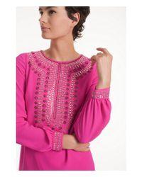 Trina Turk - Pink Kapono Beaded Shift Dress - Lyst